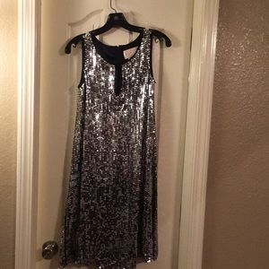 Marc Brouwer Glamit sequenced silver size 2 dress